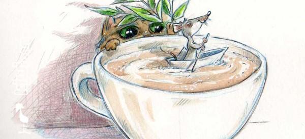 Zeit für eine Cappuccino-Pause, denk sich Maus.