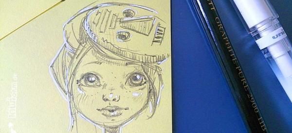 Skribble - Mädchen mit Maske
