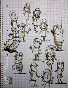 Charakter Skizzen