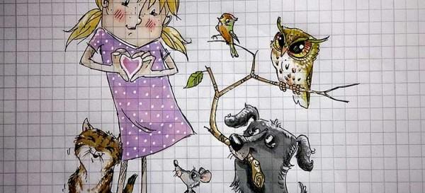Ein Herz für Tiere - Daily Illu Tag 35, Nadine Reitz