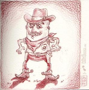 Cowboy - Daily Illu Tag 40/265