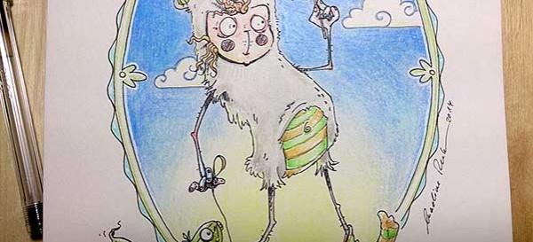 Der Gurkenlutscher - Daily Illu Tag 72 - Ausschnitt - Nadine Reitz