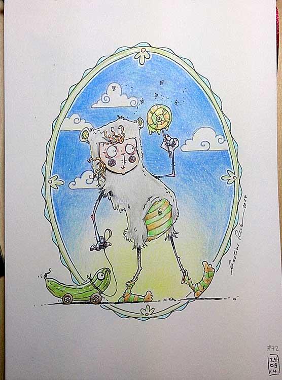 Der Gurkenlutscher - Daily Illu Tag 72 - Nadine Reitz