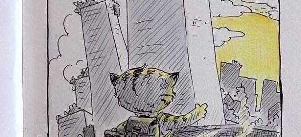 Fahrradtour mit Hund und Katze - Daily Illu Tagf 89 - Nadine Reitz