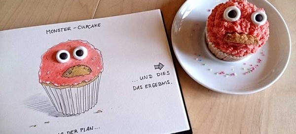 Der Monster-Cupcake-Plan - Daily Illu Tag 94 - Nadine Reitz