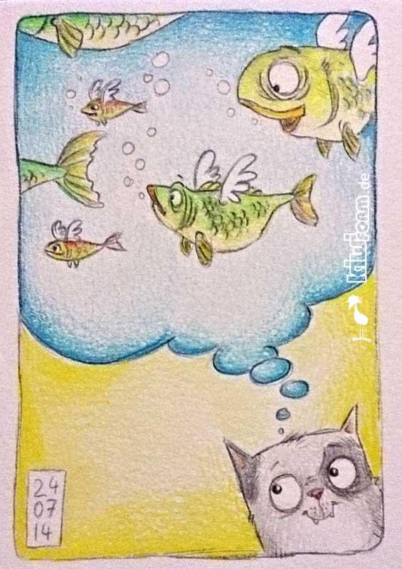 Daily Illu #10 – Fliegende Fische