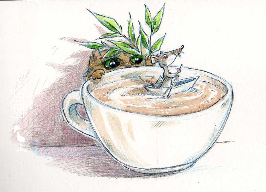 Daily Illu #14 – Cappuccino-Maus