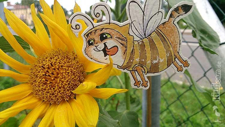 Daily Illu #27 – Von Bienchen und Blüten