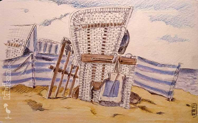 Daily Illu #29 Sonne, Strand und Meer