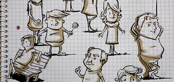 Daily Illu #34 – Charakter Skizzen