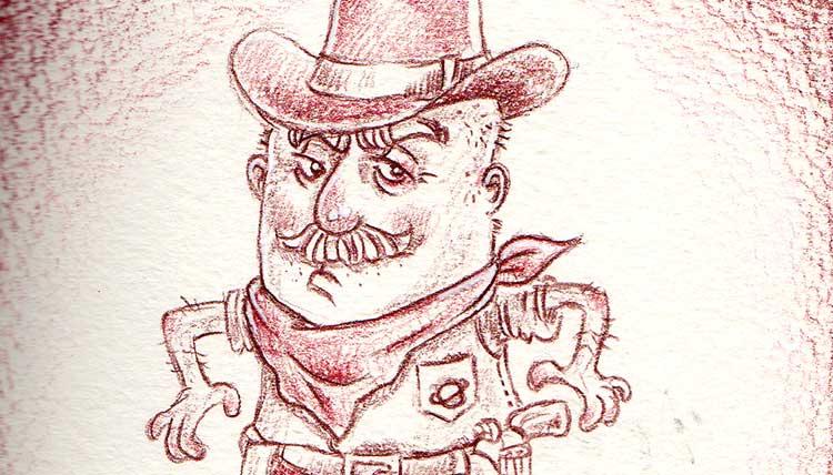 Daily Illu #40 – Hände hoch, Cowboy?