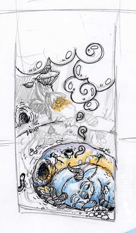 "Daily Illu #42 – Skribble zu ""Der Traum"""