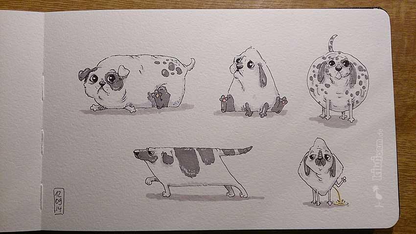 Daily Illu #60 – Quadrathunde, oder so