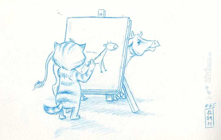 Daily Illu #65 – Das Kuh-Zeichnen geht weiter