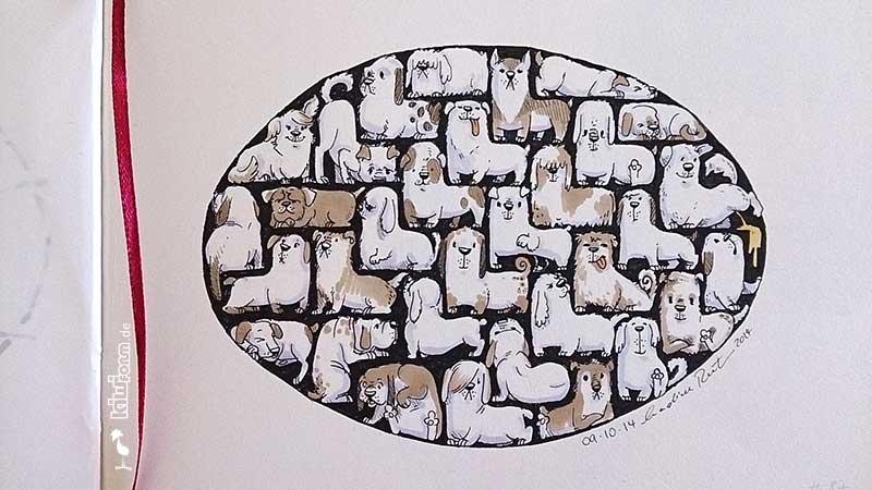 Daily Illu #87 – Hunde-Tetris